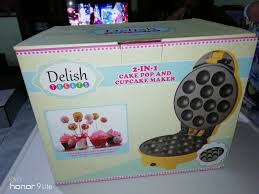 Delish Treats Cake Pop And Cupcake Maker Yellow Bake Baking Cake