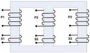three phase transformers gamatronic Loop Wiring Diagram Single Phase Transformer figure 2 a 3 phase transformer core Single Phase Transformer Connections