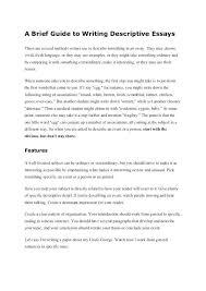 Example Of Descriptive Essay Topics Analysis Essay Essay For High School Application Also Essay