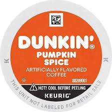 Calories in 1 grams (3.5 oz) Dunkin Pumpkin Spice Flavored Coffee 60 Keurig K Cup Pods Amazon Com Grocery Gourmet Food