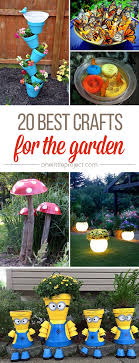 garden craft ideas. these garden crafts are so fun! from glow in the dark planters to diy butterfly craft ideas