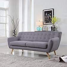 mid century modern couch. Brilliant Mid MidCentury Modern Linen Fabric Sofa Loveseat In Colors Light Grey Polo  Blue With Mid Century Couch D