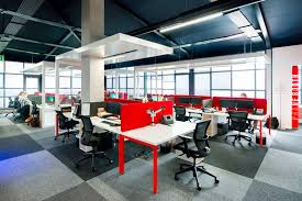the design office. The Integration Of RGA\u0027s Vibrant Red Corporate Colour Makes A Bold Statement Throughout Design And Reflects Company\u0027s Culture. Office S