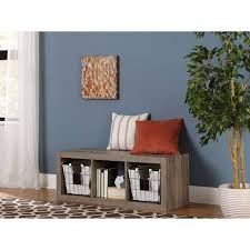 better homes and gardens 3 cube organizer multiple colors rustic gray