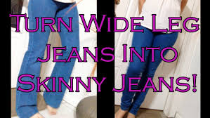 how to make skinny jeans from flare or boot cut jeans quick and easy diy you