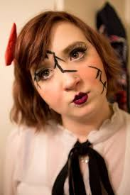 as i d only just got into makeup bit late at the age of 20 but oh well anyway here is my depiction of a creepy broken doll