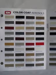 Sem Vinyl Color Chart Sem Leather Dye