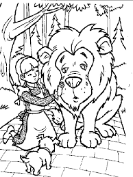 Small Picture Wizard of oz coloring pages dorothy and lion ColoringStar