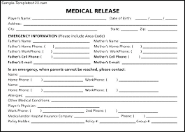 Medical Record Release Form Example Template For – Custosathletics.co