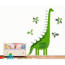 Green Dinosaur Height Chart Wall Sticker For Play School