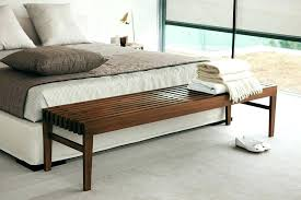 white bed bench modern wooden bedroom leather end of