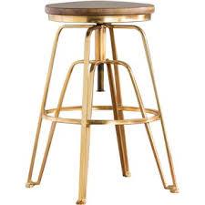 gold counter stools. Maureen Adjustable Height Bar Stool Gold Counter Stools B