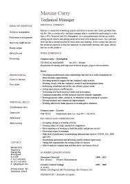 Resume Examples Technical Technical Support Resume Sample Resume