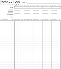 excel work log template workout log template noshot info