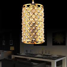 modern gold silver crystal pendant light fixture for dining room kitchen restaurant decoration lamp