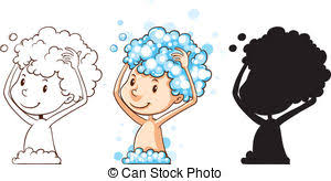 washing hair clipart. Unique Washing Washing Hair  Illustration Of Different Drawing A Kid On Hair Clipart