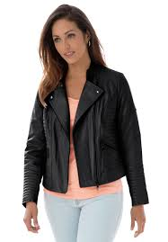 Quilted Leather Moto Jacket   Plus Size Career Jackets & Blazers ... & Plus Size Quilted Leather Moto Jacket Adamdwight.com