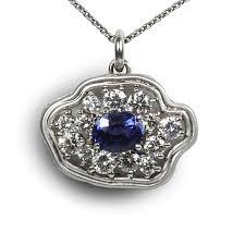 sapphire diamond pendant 10 999 00