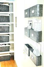 wall hanging office organizer. Wall Hanging Office Organizer Storage Baskets Metal Bins For