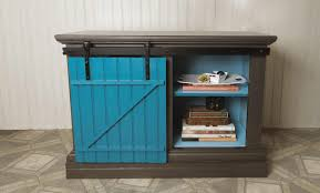 diy upcycle sliding barn door cabinet
