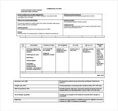 Enchanting Commercial Invoice Forms Mold - How To Write A Great ...
