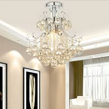 mamei free chrome finish modern mini crystal chandelier bedroom light with cognac color crystal ball