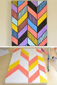 easy geo canvas art