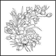 tattoo designs: Flower bouquet, painted by hand