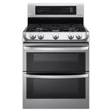 double oven gas range with probake convection oven self clean and easyclean in stainless steel