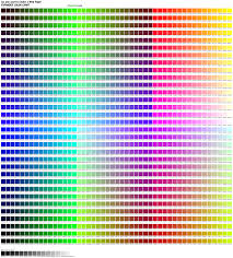 color chart 1536 color chart