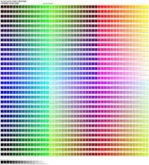 Color Chart 1536 Color Chart