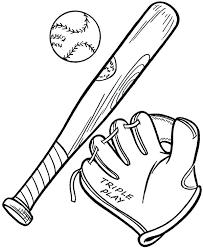 Baseball Bat Coloring Page At Getdrawingscom Free For Personal