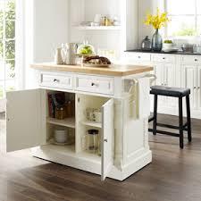 Image Ikea Amazoncom Crosley Furniture Kitchen Island With Butcher Block Top White