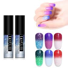 lilycute 5ml holographic thermal gel polish glitter sequins laser soak off uv nail art gel lacquer varnish canada 2019 from justinbk cad 32 08 dhgate