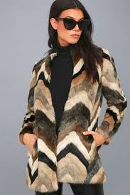 waylon multi faux fur coat