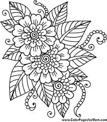 Coloring Flower Pages Flower Coloring Sheet Preschool Fudeuinfo