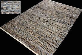 recycled denim jute rug
