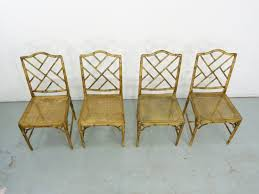 bamboo dining chairs. Faux Bamboo Vintage Chinese Chippendale Cane Dining Chairs 4