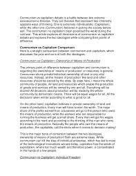 Communism Pros And Cons Chart Communism Vs Capitalism Debate Is A Battle Between Two