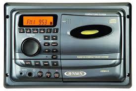 jensen awm910 cd am fm stereo auto wall mount radio 12v rv bus toy