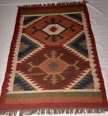handmade wool jute rug in brahmpuri