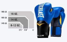 Boxing Glove Size Chart Everlast Boxing Gloves Size Chart