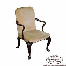Baker 18th Century Style Queen Anne Mahogany Arm Chair Queen Anne Armchair Y96