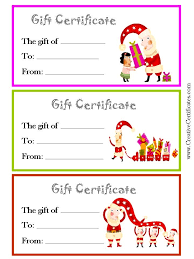 Printable Christmas Gift Certificates Templates Free