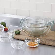 10 piece 2 25 10 25 glass nesting bowl set crate and barrel