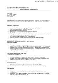 sample resume of construction estimator professional resume sample resume of construction estimator estimator construction job description sample monster letter sample and construction cover