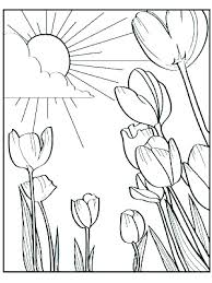 Free Printable Spring Flowers Coloring Pages Coloring Pages Spring