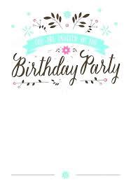 Microsoft Party Invitation Templates Word Birthday