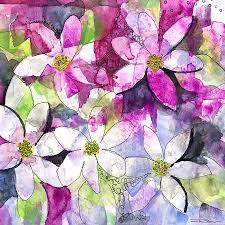 Flower Paper Mache Paper Mache Flowers Painting By Roleen Senic