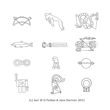 pictish symbols z rods and v rods of celestial astronomical  examples of pictish symbols